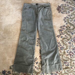 Anthropologie Louie Sage Green Velvet Pants 14